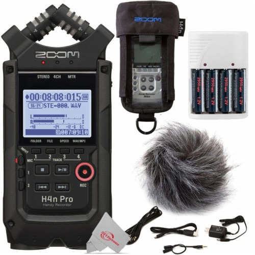 Zoom H4n Pro 4-input / 4-track Digital Recorder + Accessory Pack Perspective: front
