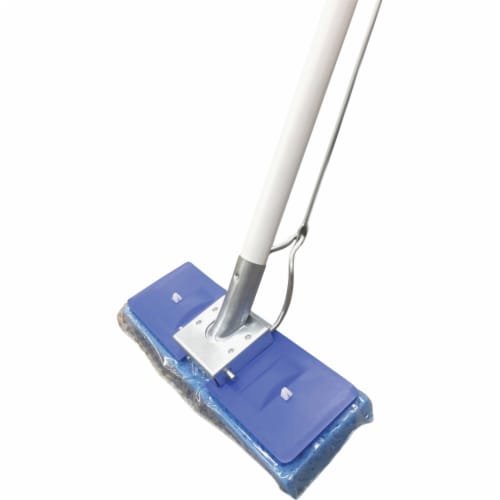 Millers Creek MLE619315 Butterfly Mop, with Scrubber Strip, Blue Perspective: front