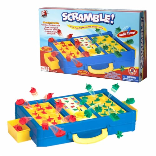 Mukikim MUK-75708 Scramble Promotes Shape Recognition & Problem Solving Board Game Perspective: front
