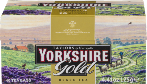 Taylors Of Harrogate Yorkshire Gold Black Tea Perspective: front