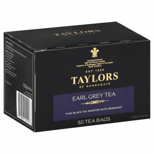 Taylors Of Harrogate Earl Grey Tea 50 Count Perspective: front