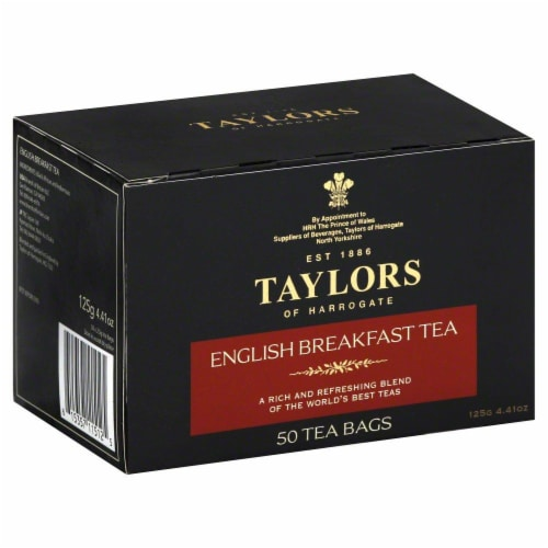 Taylors of Harrogate English Breakfast Tea 50 Count Perspective: front