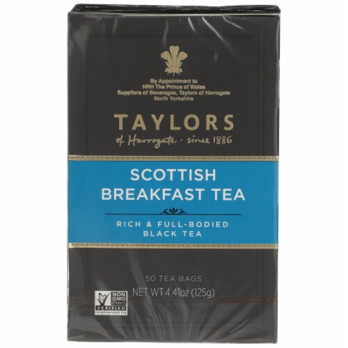 Taylors Scottish Breakfast Tea 50 Count Perspective: front