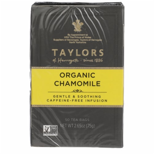 Taylors of Harrogate Organic Chamomile Tea Bags Perspective: front