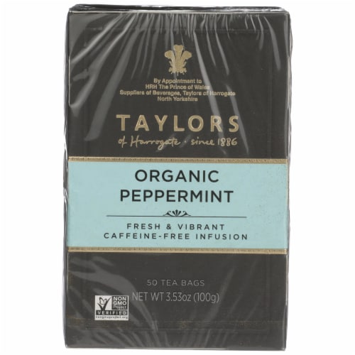 Taylors of Harrogate Organic Peppermint Tea Perspective: front