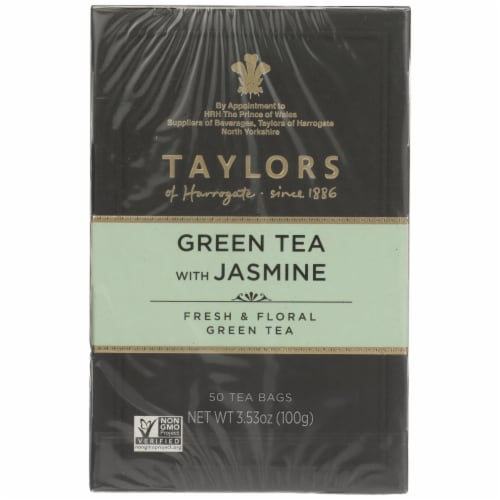 Taylors of Harrogate Green Tea with Jasmine Perspective: front
