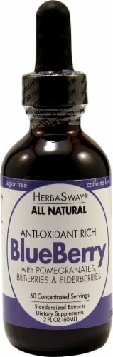 Herbasway Laboratories  Anti-Oxidant Rich Blueberry Perspective: front