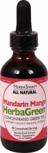 Herbasway Laboratories HerbaGreen Mandarin Mango Concentrated Green Tea Perspective: front
