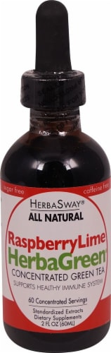 Herbasway Laboratories HerbaGreen Raspberry Lime Concentrated Green Tea Perspective: front