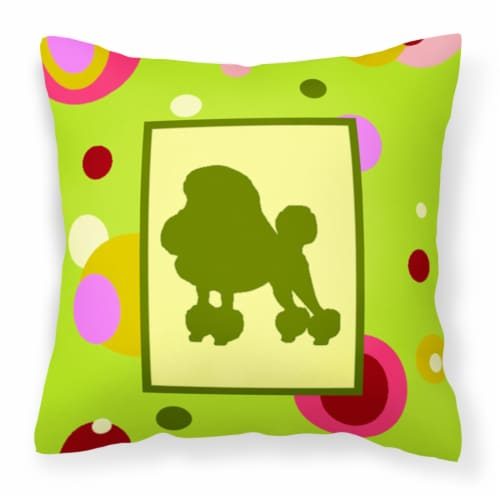 Carolines Treasures  CK1106PW1414 Poodle Decorative   Canvas Fabric Pillow Perspective: front