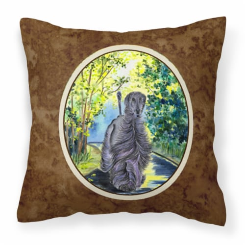 Carolines Treasures  SS8181PW1414 Afghan Hound Decorative   Canvas Fabric Pillow Perspective: front