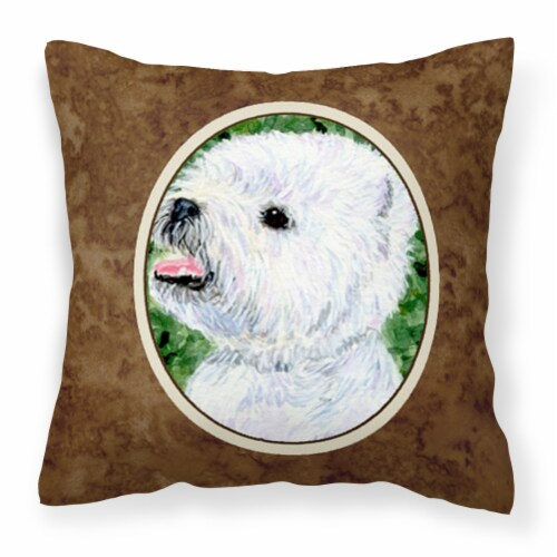 Carolines Treasures  SS8802PW1414 Westie Decorative   Canvas Fabric Pillow Perspective: front