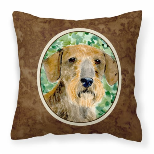 Carolines Treasures  SS8806PW1414 Dachshund Decorative   Canvas Fabric Pillow Perspective: front