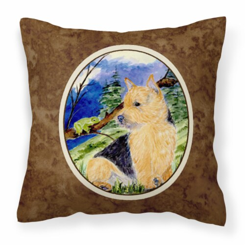 Carolines Treasures  SS8984PW1414 Norwich Terrier Decorative   Canvas Fabric Pil Perspective: front