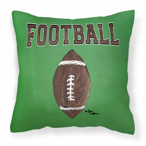Carolines Treasures  8487PW1414 Football   Canvas Fabric Decorative Pillow Perspective: front