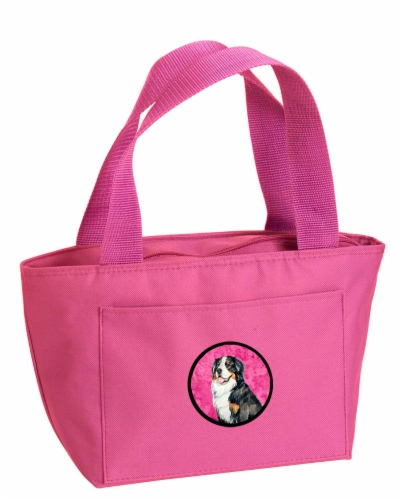 Carolines Treasures  LH9379PK-8808 Pink Bernese Mountain Dog  Lunch Bag or Doggi Perspective: front