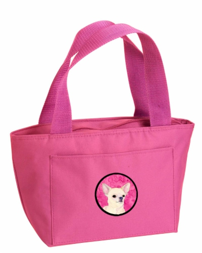 Carolines Treasures  SS4748-PK-8808 Pink Chihuahua  Lunch Bag or Doggie Bag SS47 Perspective: front