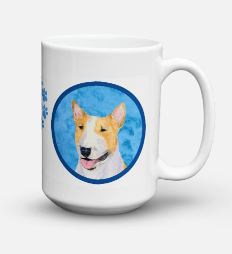 Bull Terrier  Dishwasher Safe Microwavable Ceramic Coffee Mug 15 ounce SS4772 Perspective: front