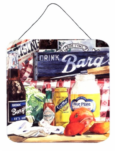 Blue Plate Mayonaise, Barq's and a tomato sandwich Wall or Door Hanging Prints Perspective: front