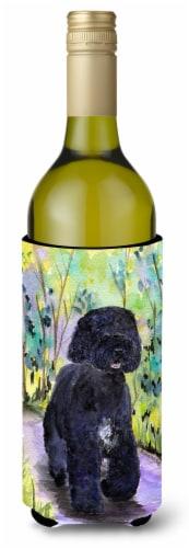 Portuguese Water Dog Wine Bottle Beverage Insulator Beverage Insulator Hugger Perspective: front