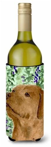Chocolate Labrador Wine Bottle Beverage Insulator Beverage Insulator Hugger Perspective: front