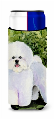 Bichon Frise Ultra Beverage Insulators for slim cans Perspective: front