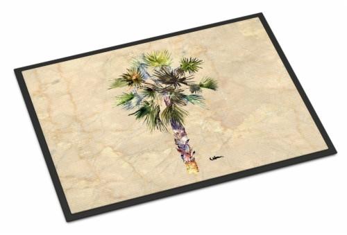 Carolines Treasures  8481MAT Palm Tree Indoor or Outdoor Mat 18x27 Perspective: front