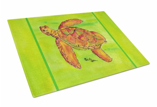 Carolines Treasures 8376lcb Turtle Glass Cutting Board Large 12hx15w Kroger