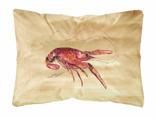 Carolines Treasures  8230PW1216 Crawfish   Canvas Fabric Decorative Pillow Perspective: front
