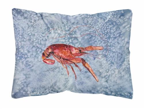 Carolines Treasures  8231PW1216 Crawfish   Canvas Fabric Decorative Pillow Perspective: front