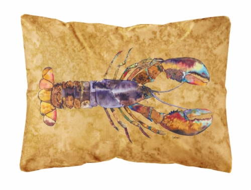 Carolines Treasures  8716PW1216 Lobster   Canvas Fabric Decorative Pillow Perspective: front