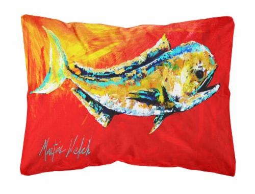 Carolines Treasures  MW1156PW1216 Danny Dolphin Fish   Canvas Fabric Decorative Perspective: front