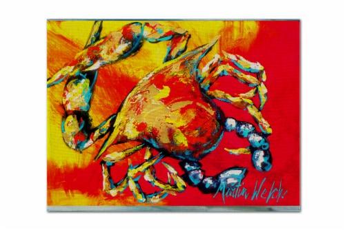 Carolines Treasures  MW1086PLMT Crab Hot Dang Fabric Placemat Perspective: front