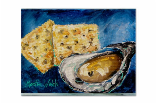 Carolines Treasures  MW1089PLMT Oysters Two Crackers Fabric Placemat Perspective: front