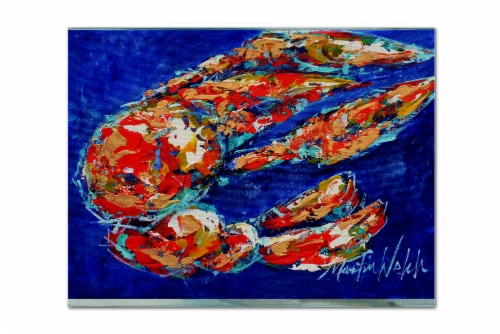Carolines Treasures  MW1155PLMT Craw Momma Crawfish Fabric Placemat Perspective: front