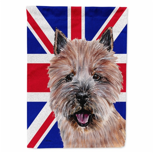 Fry S Food Stores Norwich Terrier With English Union Jack British Flag Flag Garden Size Garden Size