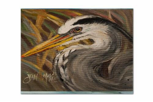 Carolines Treasures  JMK1012PLMT Blue Heron Fabric Placemat Perspective: front