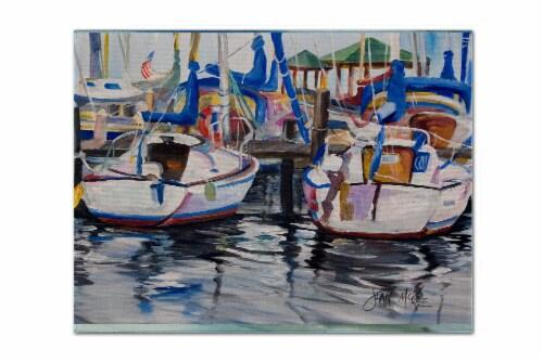 Carolines Treasures  JMK1054PLMT Sailboats Fabric Placemat Perspective: front