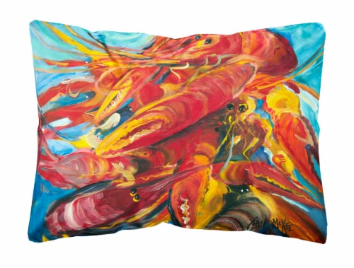 Carolines Treasures  JMK1117PW1216 Crawfish Canvas Fabric Decorative Pillow Perspective: front