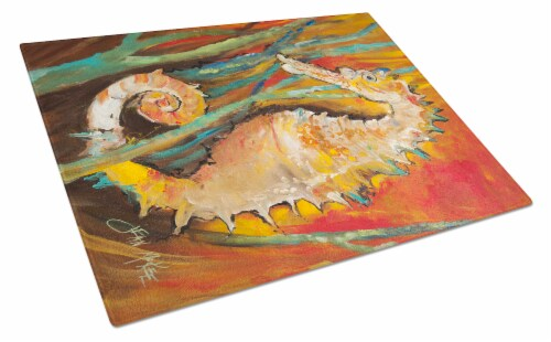 Carolines Treasures  JMK1142LCB Seahorse Glass Cutting Board Large Perspective: front
