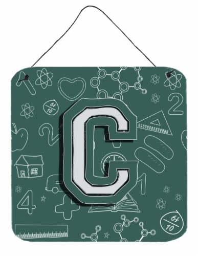 Letter C Back to School Initial Wall or Door Hanging Prints Perspective: front