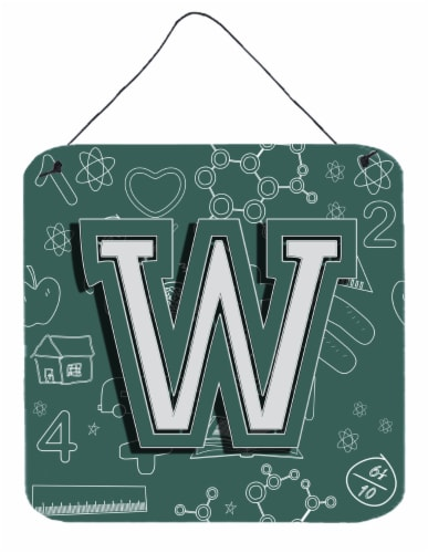 Letter W Back to School Initial Wall or Door Hanging Prints Perspective: front