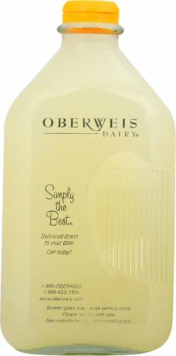 Oberweis Lemonade 1/2 Gallon Perspective: front