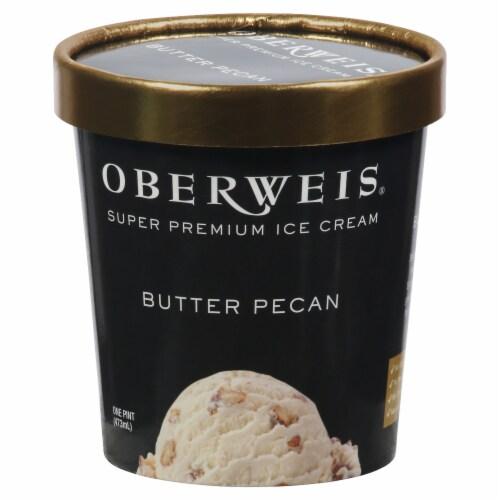 Oberweis Butter Pecan Ice Cream Perspective: front