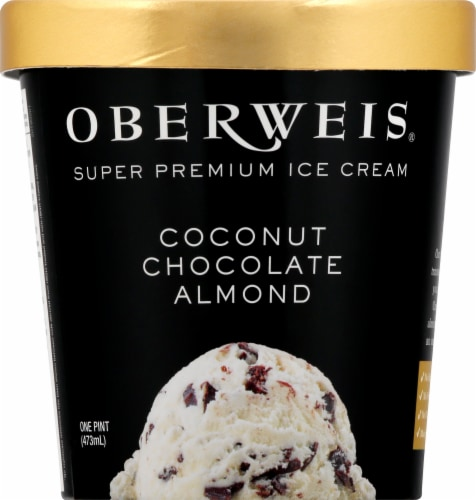 Oberweis Coconut Chocolate Almond Ice Cream Perspective: front