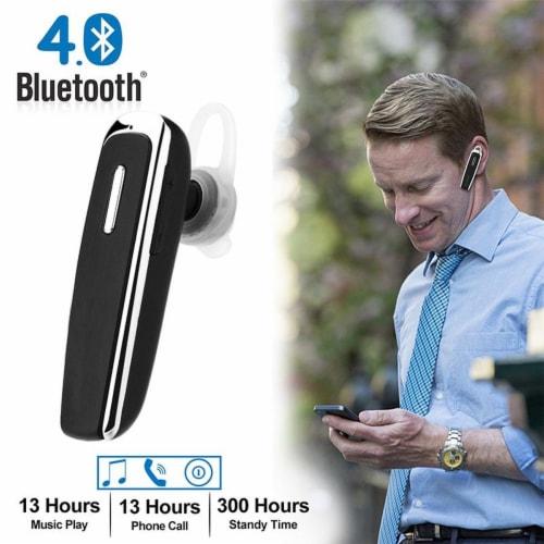 Trucker Headsets Mini Single Wireless Bluetooth Earbuds Headphone In Ear Hook Perspective: front