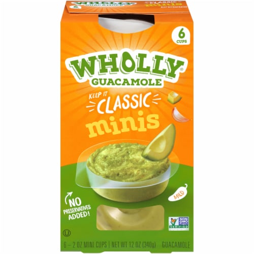 Wholly Guacamole Classic Guacamole Minis 6 Count Perspective: front