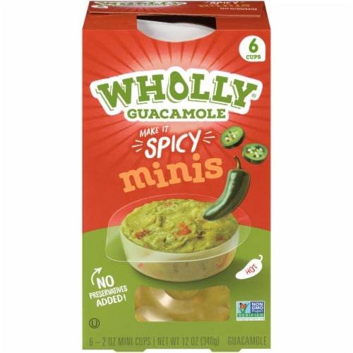 Wholly Guacamole Spicy Guacamole Minis Perspective: front