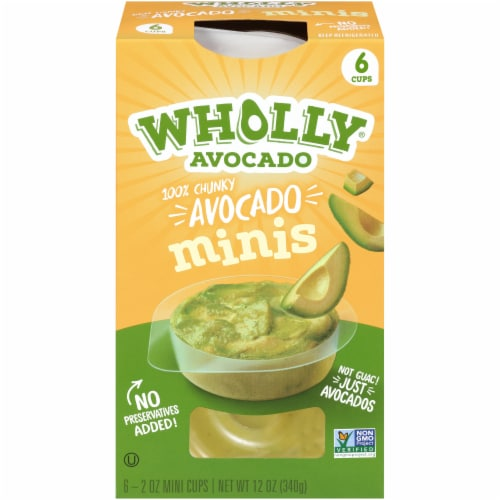 Wholly Avocado Chunky Avocado Minis 6 Count Perspective: front