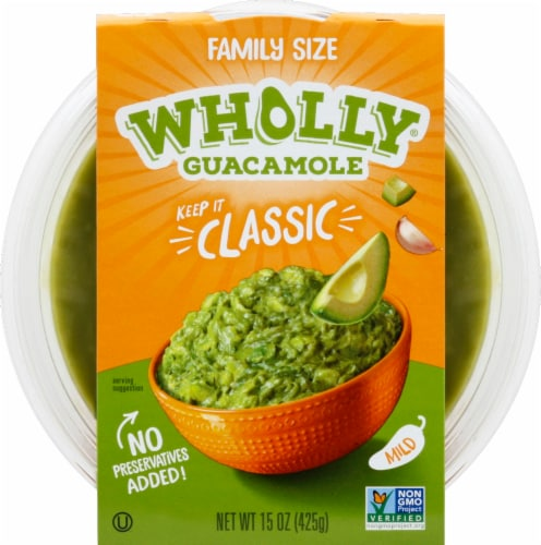 Wholly Guacamole® Classic Mild Guacamole Family Size Perspective: front
